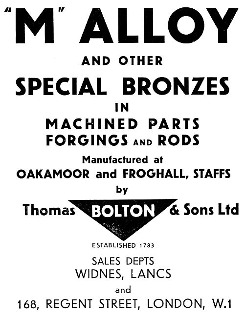 Thomas Bolton & Sons.  'M' Ally & Special Bronzes. Forgings