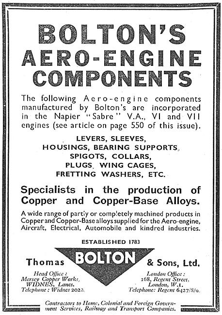 Thomas Bolton Aero Engine Components