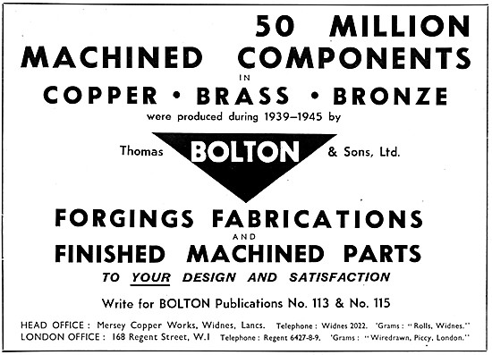 Thomas Bolton Copper Brass Bronze Products Forgings Fabrication