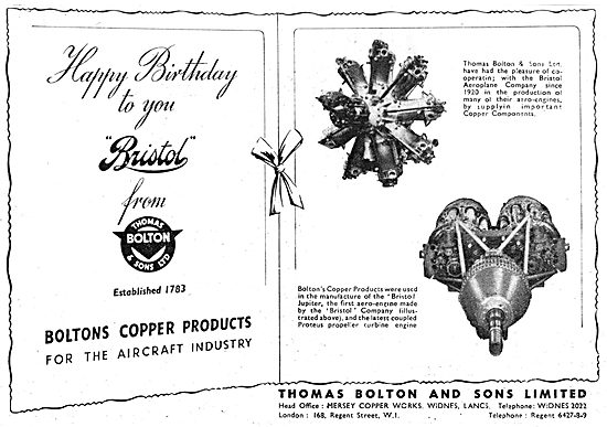 Thomas Bolton & Sons. Widnes, Lancs. Copper Products