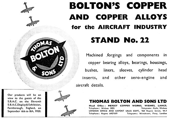 Thomas Bolton & Sons. Bolton's Copper & Copper Alloys