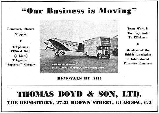 Thomas Boyd Brown Street Glasgow - Aircraft Shippers & Packers