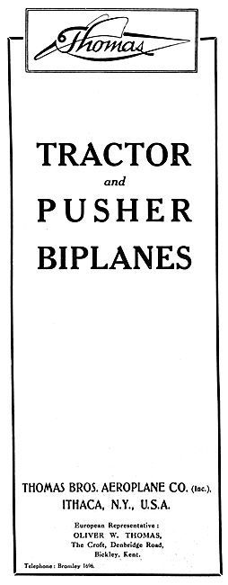 Thomas Brothers Tractor & Pusher Biplanes