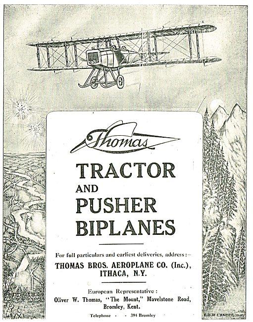 Thomas Tractor & Pusher Biplanes
