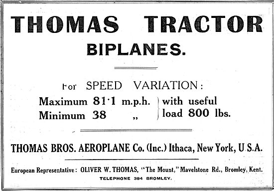 Thomas Tractor Biplanes - Speed Variation 38 - 81 MPH