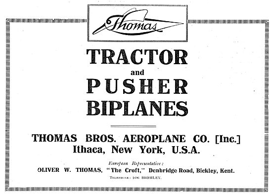 Thomas Tractor & Pusher Biplanes