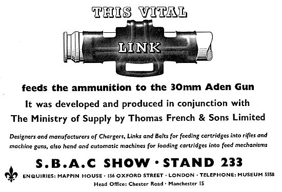 Thomas French Ammunition Feed To The 30mm Aden Gun
