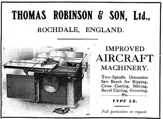 Thomas Robinson & Sons Two Spindle Dimension Saw Benches