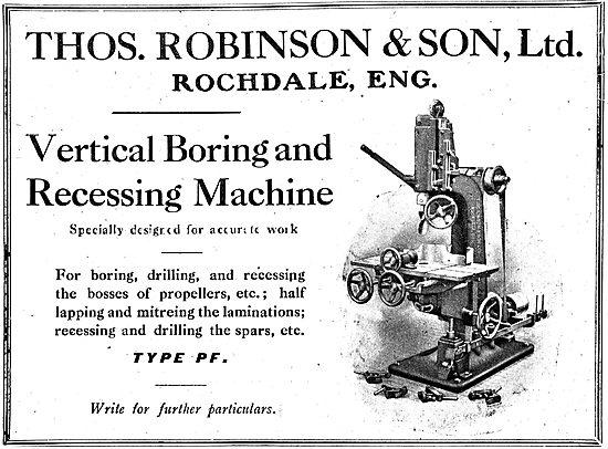 Thomas Robinson & Sons. Vertical Boring & Recessing Machines