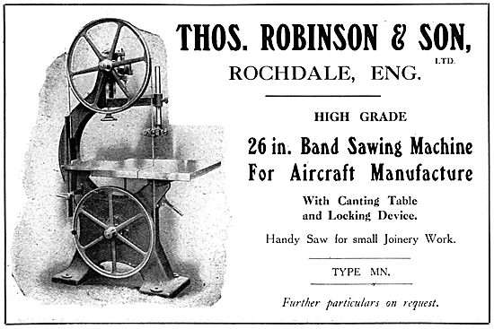 Thomas Robinson & Sons, WW1 Woodworking Machinery. 26