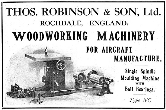 Thomas Robinson & Son Woodworking Machinery