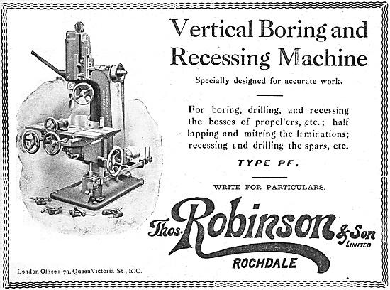 Thomas Robinson & Sons. Vertical Boring & Recessing Machine