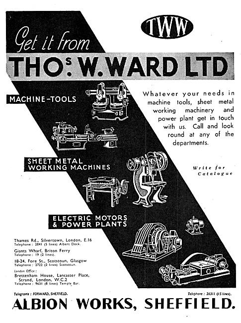 Thomas Ward. Machine Tool s & Accessories