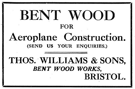 Thomas Williams & Sons - Bent Wood For Aircraft Construction
