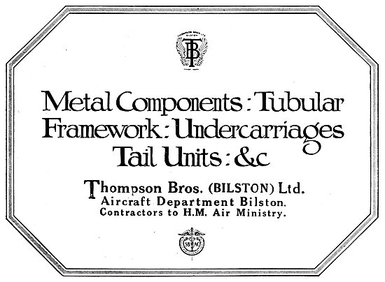 Thompson Brothers. Tubular Framework, Undercarrtiages Etc