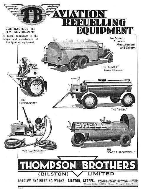 Thompson Brothers Aircraft Fuellers: The Sussex : India