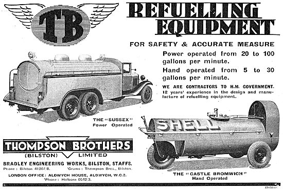 Thompson Brothers: Castle Bromwich Hand Operated Aircraft Fueller