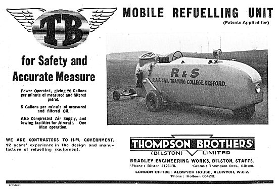 Thompson Brothers Mobile Aircraft Refueller: RAF Desford