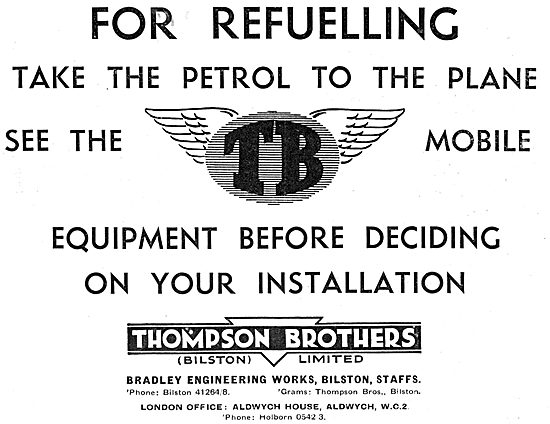 Thompson Brothers Aircraft Refuelling Vehicles. Refuellers