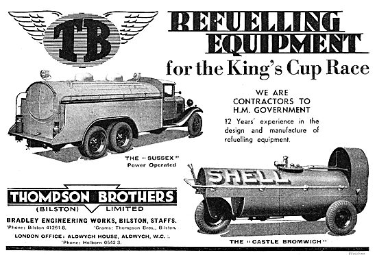 Thompson Brothers Aircraft Refuelling Vehicles - Refuellers