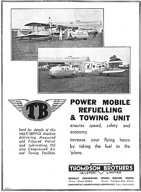 Thompson Brothers Power Refuelling & Towing Unit