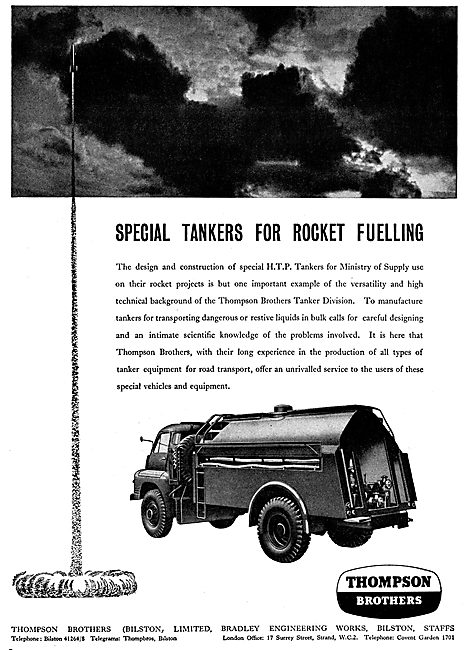 Thompson Brothers Rocket Refuelling Units - HTP Tankers