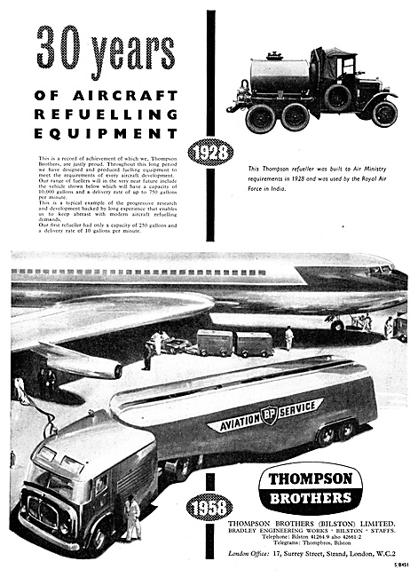 Thompson Brothers Aircraft Refuellers 1958