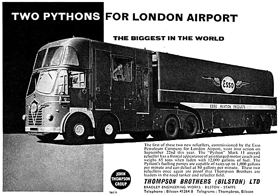 Thompson Brothers Python Mark II Aircraft Refueller 1960