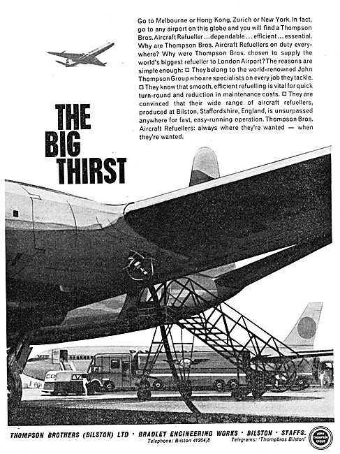 Thompson Brothers Aircraft Refuelling Equipment. Hydrant. Mobile