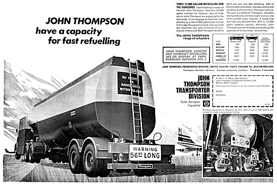 Thompson London Refueller - Thompson Somerset Refueller 1968