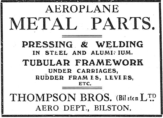 Thompson Brothers - Aeroplane Metal Parts