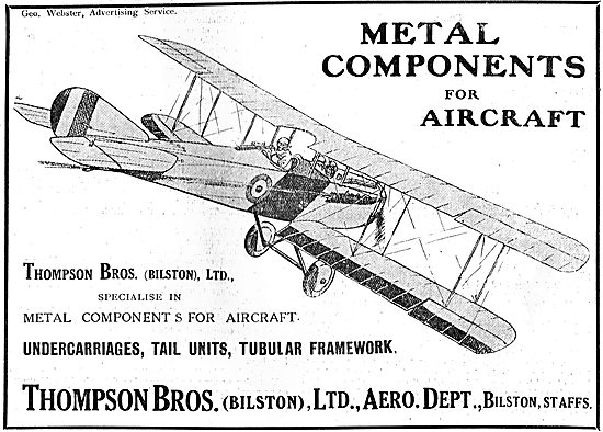 Thompson Brothers. Bilston - Manufacturers Of Aircraft Components