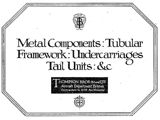 Thompson Brothers - Metal Aircraft Components