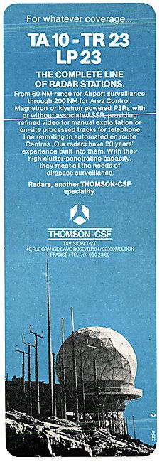 Thomson-CSF 3TA 10-TR 23 LP 23 Radar Stations