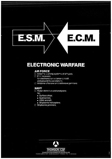 Thomson-CSF Electronic Warfare Systems ESM ECM