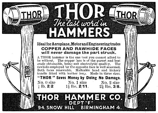 Thor Hammer Co. Soft Faced Hammers.