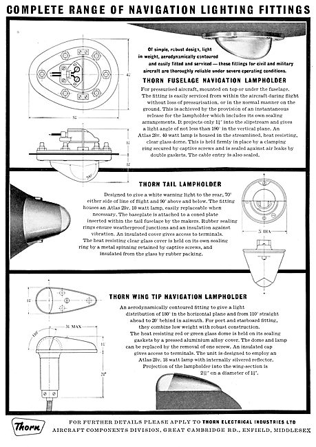 Thorn Electrical Components - Aircraft Navigation Lights