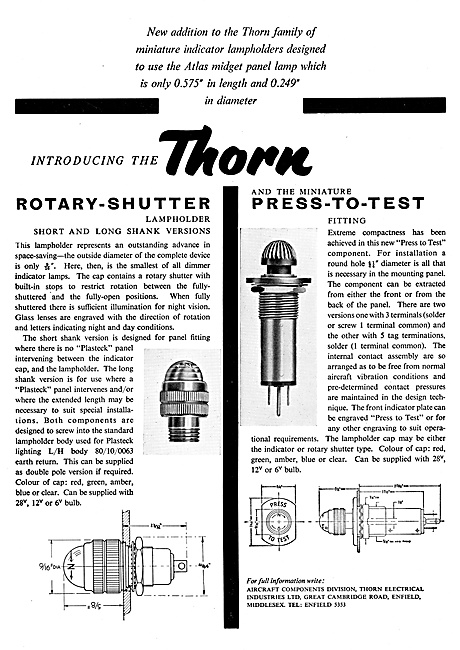 Thorn Electrical Components - Thorn Aircraft Lighting