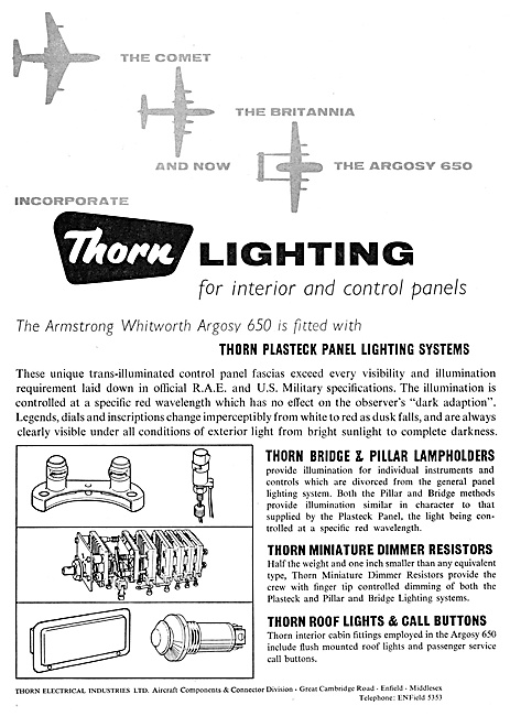 Thorn Electrical Components - Thorn Aircraft Lighting Equipment