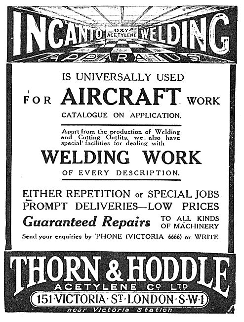 Thorn & Hoddle Acetylene. Incanto Welding Equipment & Accessories
