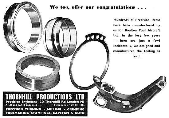 Thornhill Productions Ltd: Precision Engineers