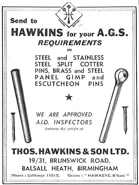 Thomas Hawkins. 19/31 Brusnwick Rd. Balsall Heath. AGS Parts