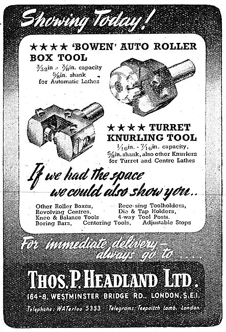Thomas Headland Lathe Tools - Euco Turret Tools