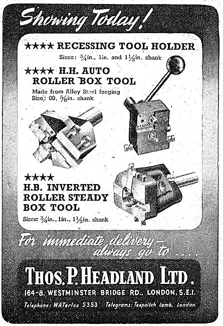 Thomas Headland Machine Tools - Euco Turret Tools