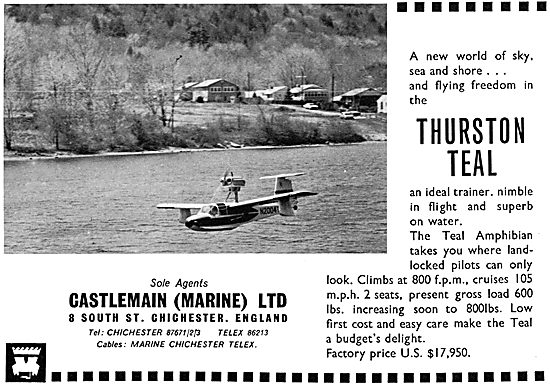 Thurston Teal Amphibian. Castlemain (Marine)