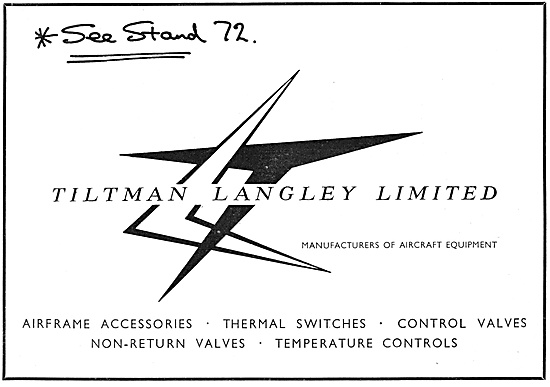 Tiltman Langley Manufacturers Of Aircraft Equipment