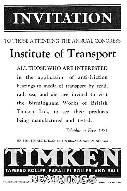 British Timken Bearings