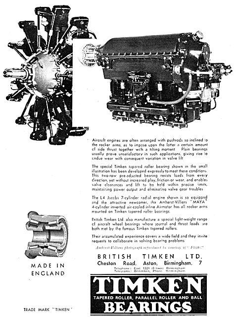 British Timken Bearings
