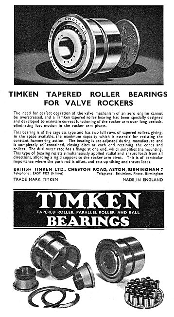 Timken Bearings For Aircraft