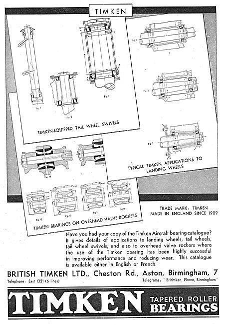 Timken Bearings For Aircraft